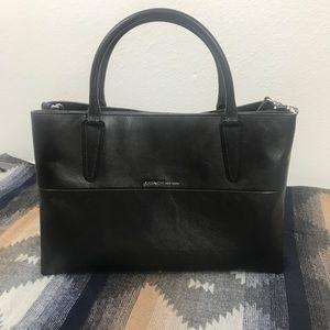 Coach Black Handbag Purse Leather Satchel